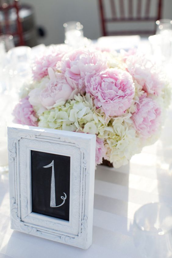 Pink peonies and white hydrangeas. Photography by michaelandannacosta.com, Wedding Planning by trueblueevents.com, Floral Design by juniperfloraldesigns.com: